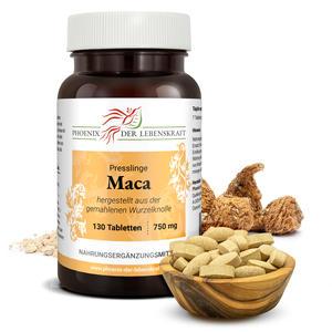 Maca Tabletten à 750mg (Lepidium meyenii), 130 Tabletten