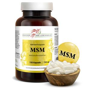 MSM à 755mg (Methylsulfonylmethan), 150 Kapseln