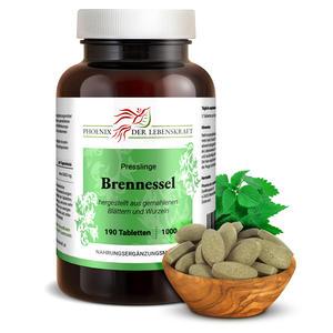 Brennessel Tabletten à 1000mg (Urtica dioica, Brennnessel), 190 Tabletten