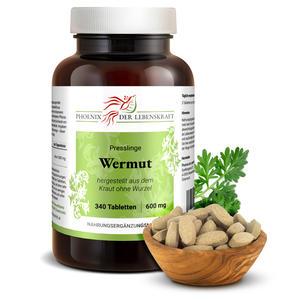 Wermut Tabletten à 600mg, 340 Tabletten, (Artemisia absinthium, bitterer Beifuß)