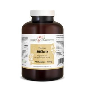 Süßholz Tabletten à 750mg (Glycyrrhiza glabra, Süßholzwurzel), 485 Tabletten