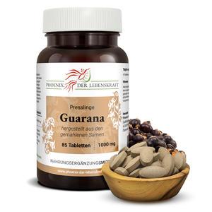 Guarana Tabletten à 1000mg (Paullinia cupana), 80 Tabletten