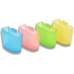 4-teiliges Teebeutelhalter-Set mit Tassenhalterung mehrfarbig