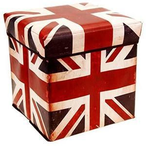 Faltbare stabile Aufbewahrungsbox mit Motiv Großbritannien - Hocker - 30x30x30