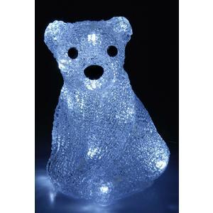 Sitzender Eisbär mit Beleuchtung - Weihnachtsdeko mit Beleuchtung - 20 LED