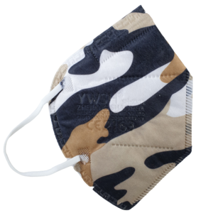 5 x FFP2 Maske Bunt Camouflage Beige