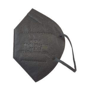 5x FFP2 Maske Bunt schwarz (auch innen schwarz)