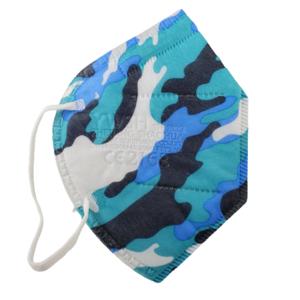5 x FFP2 Maske Bunt Camouflage Blau