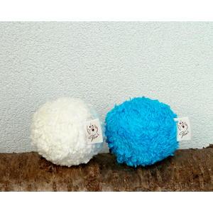 Dog Filou's® Bio Hundespielzeug Ball aus Naturmaterialien & nachhaltig, Farbe: naturweiß, Größe: ca. Ø 8 cm, 1 Stk.