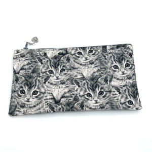 Praktisches Täschchen - Kätzchen, groß - Tasche für Stifte oder Krimi-Krams aus Baumwollstoff