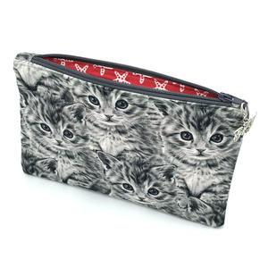 Praktisches Täschchen - Kätzchen, KLEIN - Tasche für Stifte oder Krimi-Krams aus Baumwollstoff