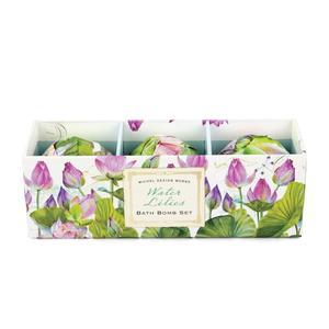 Badekugeln 3er Set 3x50g - Water Lilies - von MICHEL DESIGN WORKS