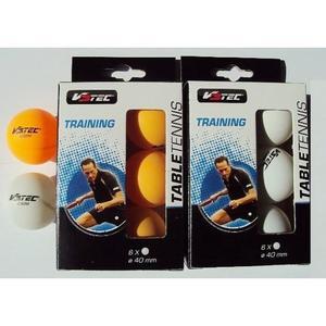 Tischtennis Bälle V3Tec Training 6er Packung