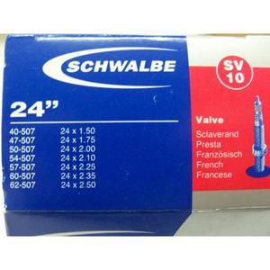 Schlauch Schwalbe (24x1,75-2,125) 10 SV-Ventil