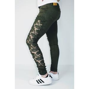 Jeans Damen Spitze Grün