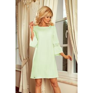 Kleid Damen kurz 3/4 Arm A-Linie Mint grün