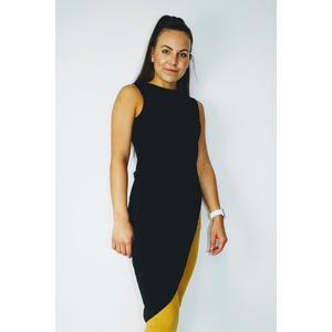 Bluse Tunika Top Damen Asymmetrisch Ärmellos Freizeit Modern Schwarz
