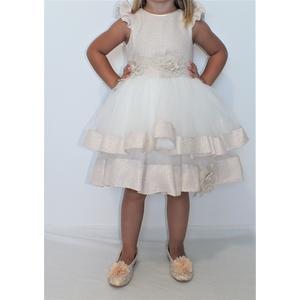 Kleid Mädchen Festlich Einschulung Blumenmädchen Hochzeit Kommunion Pink Weiß