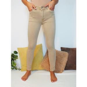 Jeans Damen Push Up mit Gürtel Creme