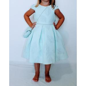 Kleid Mädchen Festlich Einschulung Blumenmädchen Hochzeit Kommunion Türkis Blau