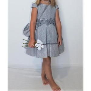 Kleid Mädchen Festlich Einschulung Blumenmädchen Hochzeit Kommunion Dunkel Blau