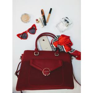 Tasche Damen Schultertasche Handtasche Handbag Rot