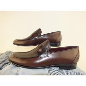 Schuhe Herren Halbschuhe Echtes Leder Braun