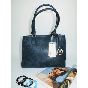 Tasche Damen Schultertasche Handtasche Handbag Blau