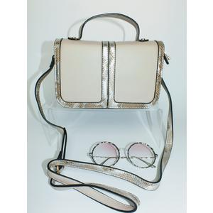 Tasche Damen Schultertasche Handtasche Klein Handbag Beige