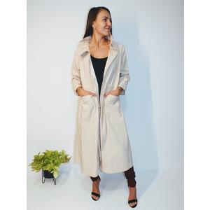Mantel Damen Lang Knöpfe Beige