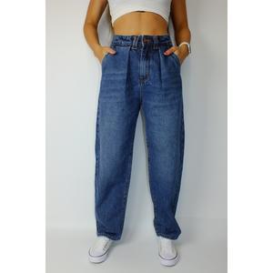 Jeans Damen Denim Slouchy Oversized Blau