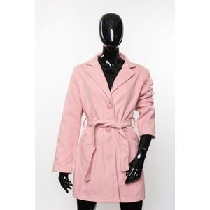 Mantel Damen Herbst Wickel mit Gürtel Pink Rosa