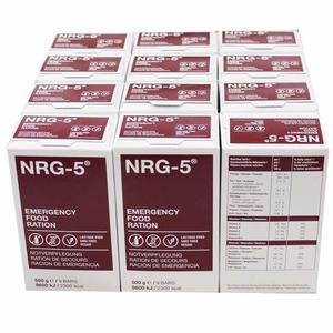 12 Pakete NRG 5 (nrg) Notfallnahrung a' 500g 1a' 9 Riegel, Notnahrung, Langzeitvorsorge, Langzeitnahrung, Krisenvorsorge, Notfallnahrung