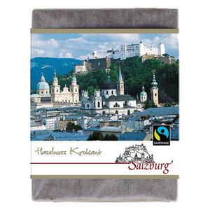 Schoko Salzburg 70g, FT-Cert (Vollmilch Haselnusskrokant)