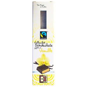 Vollmilch Schokolade gefüllt mit Vanille 45g/FT-Cert.