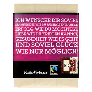 Schoko Lyrik wünsche 70g, FT-Cert (Weiße Himbeere)