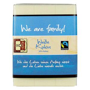 Schoko Motto We are family 70g, FT-Cert (Weiße Kokos)
