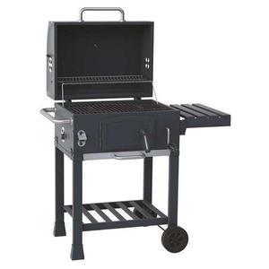 Holzkohle Grillwagen - BBQ Smoker - Räucherofen mit Kohleklappe und Deckelthermometer - Kohleebene mit Kurbel verstellbar - Grill - Kohlegrill - Griller
