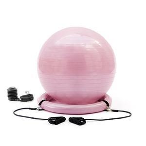 Yoga-Ball mit Stabilitätsring und Widerstandsbändern Ashtanball - Gymnastikball für Gleichgewichtsstärkung - Balance