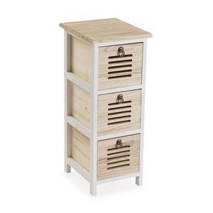 Container Tani Paulonia-Holz (29 x 62 x 25 cm) - Schrank - Kommode - Kästchen - Kasten - Regal