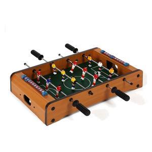 Tischfußball Holz - 51 x 31 x 10 cm - Mini Tischfußballtisch - Kickertisch