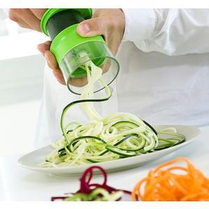 Mini Spiralschneider für Gemüse - Spiralschneider mit Handdrehung - Küchenhelfer- Gemüsespaghetti - Gemüsenudeln