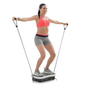 Trainingsplattform mit Vibration, Zubehör und Übungsleitfaden - Training für Zuhause - Home Trainer