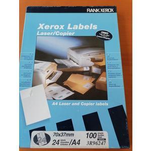 Xerox Labels A4 Laser und Kopier Etiketten 24 Stk 100 Blatt 70 x 37 mm selbstklebend grün Versandetiketten
