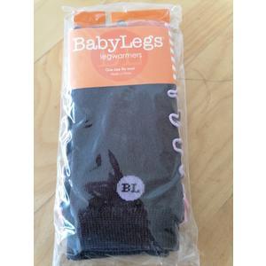 Babysocken BabyLegs Leg Warmers 0 - 3 Monate braun mit rosa