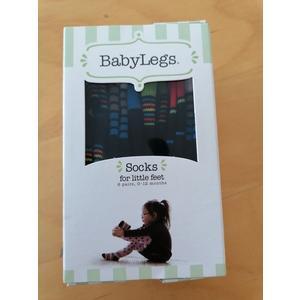 6 Paar Babysocken BabyLegs 0 - 12 Monate bunt