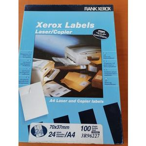 Xerox Labels A4 Laser und Kopier Etiketten 24 Stk 100 Blatt 70 x 37 mm selbstklebend orange Versandetiketten