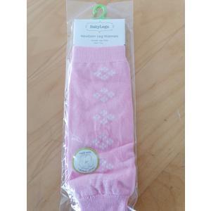 Babysocken BabyLegs Leg Warmers 0 - 3 Monate rosa Blümchen