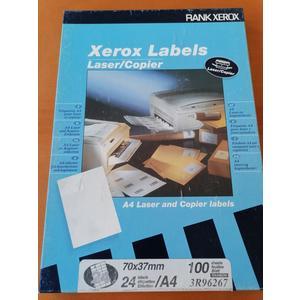 Xerox Labels A4 Laser und Kopier Etiketten 24 Stk 100 Blatt 70 x 37 mm selbstklebend rainbow Versandetiketten