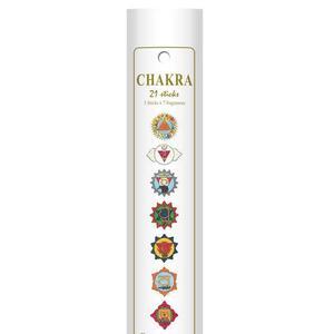 21 Stück CHAKRA Räucherstäbchen (Brenndauer 65 - 80 min) - Geschenkidee